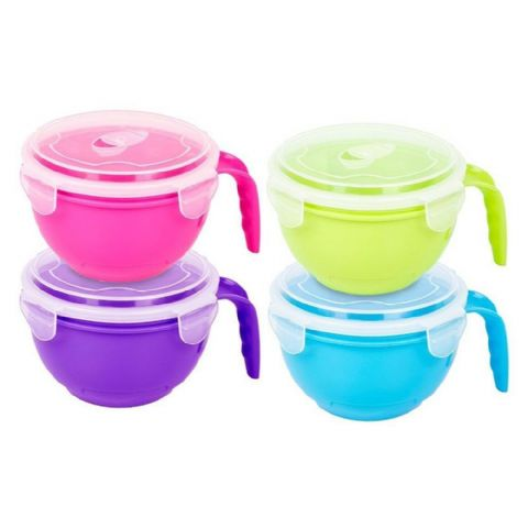 Microwave Soup & Noodle Bowl with Lid & Handle